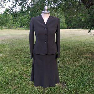 MSRP $150 KASPER 2PC Green Blazer Skirt Suit 6 6P